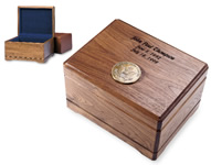 Photo of a walnut memento box